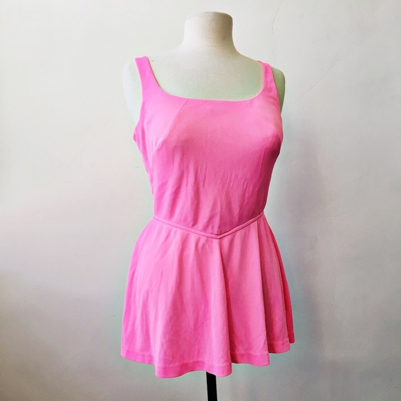 Vintage Other - Vintage 50's 60's Neon Pink Structured Swimsuit
